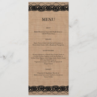Black Lace & Burlap Menu