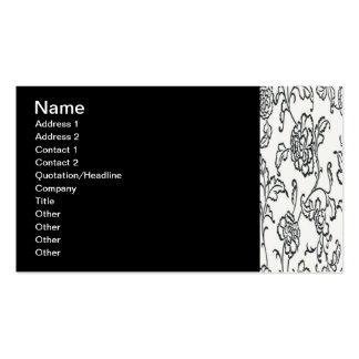 Black Lace Double-Sided Standard Business Cards (Pack Of 100)