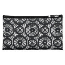 Black_Lace (c )Revised-Fabric_Sueded_Bag Cosmetic Bag