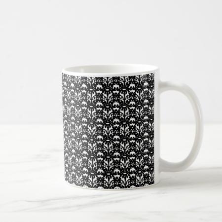 Black Lace Coffee Mugs