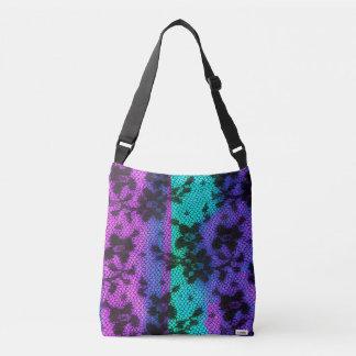 Black lace crossbody bag