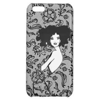 Black Lace Dress Cover For iPhone 5C