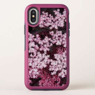Black Lace Elderberry Floral OtterBox Symmetry iPhone X Case