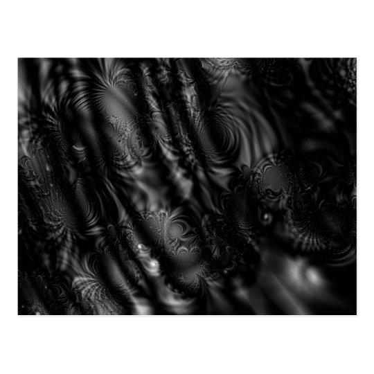 Black Lace Fractal Postcard
