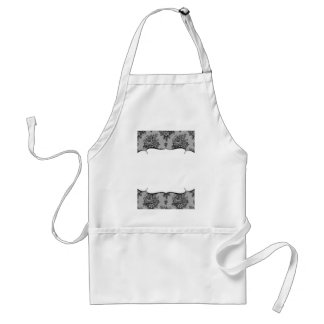Black Lace French Background Adult Apron
