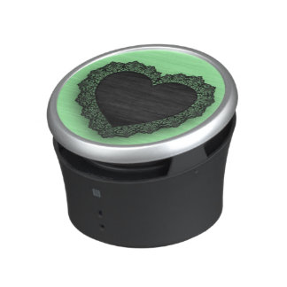 Black Lace Heart Customizable Bluetooth Speaker
