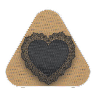 Black Lace Heart Customizable Speaker