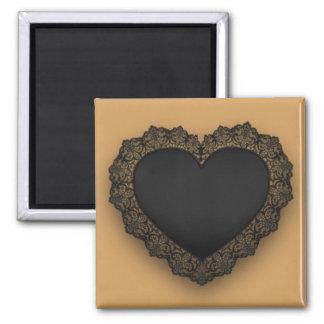 Black Lace Heart Magnet