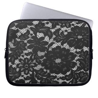 Black Lace Laptop Sleeve