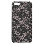 Black lace on pink iPhone 4 skin iPhone 5C Cover