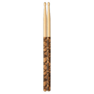 Black Lace on Taupe Drumsticks