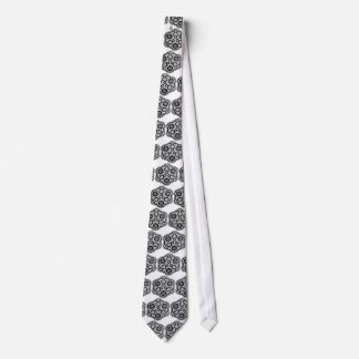 Black Lace on White (Neck Tie for Groomsmen)