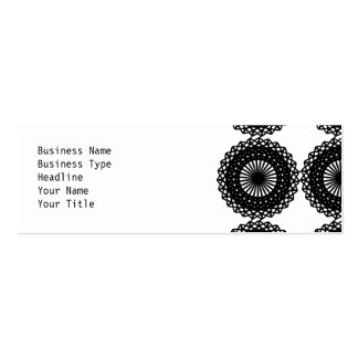 Black Lace Pattern Design. Custom Double-Sided Mini Business Cards (Pack Of 20)