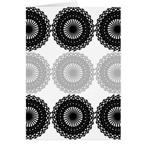 Black Lace Pattern Design. Custom Card