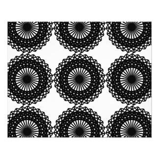 Black Lace Pattern Design. Custom Flyer