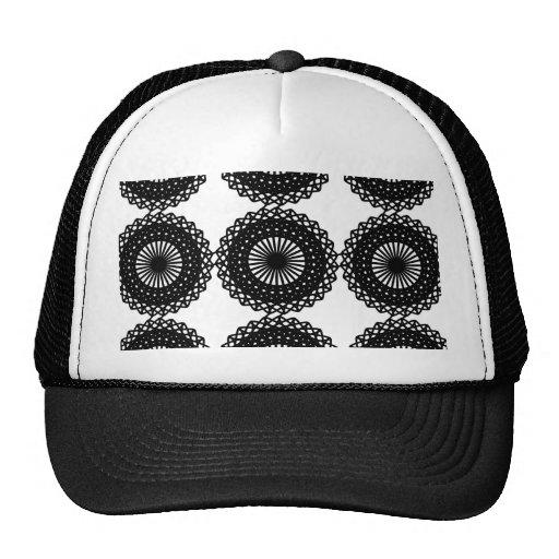 Black Lace Pattern Design. Custom Mesh Hat