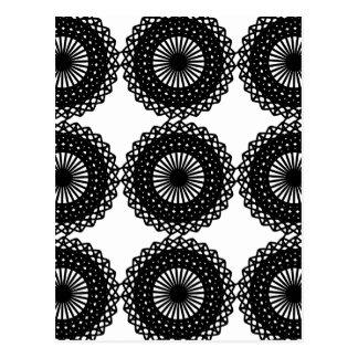 Black Lace Pattern Design. Custom Post Cards