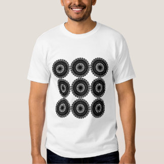 Black Lace Pattern Design. Custom Shirt