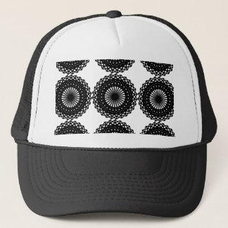 Black Lace Pattern Design. Custom Trucker Hat