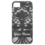 Black lace personalized iPhone 5 case