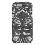 Black lace personalized iPhone 6 case