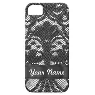 Black lace personalized iPhone SE/5/5s case