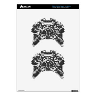 Black lace personalized xbox 360 controller skin