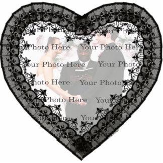 Black Lace Photo Frame Photo Sculpture