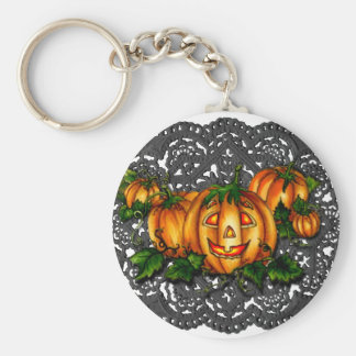 BLACK LACE, PUMPKIN PATCH by SHARON SHARPE Key Chain