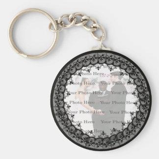 Black Lace Round Keychain