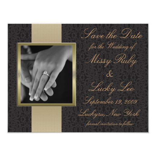 Black Lace Save the Date Announcement