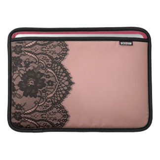 Black lace sleeve for MacBook air
