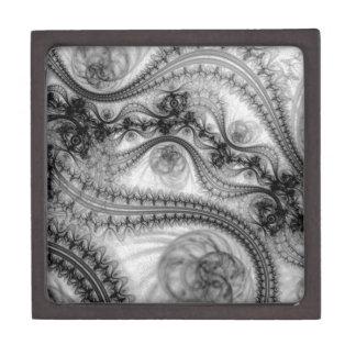black lace tendrils gift box