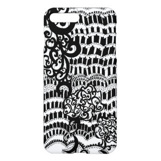 Black lace Uncommon pattern iPhone 7 Plus Case