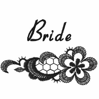 Black Lace Wedding - Bride Embroidered Jacket