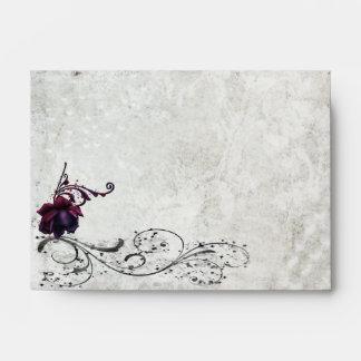 Black Lace Wedding Envelope