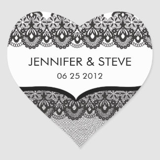 Black Lace Wedding Stickers