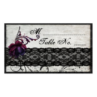 Black Lace Wedding Suite Placecards Double-Sided Standard Business Cards (Pack Of 100)
