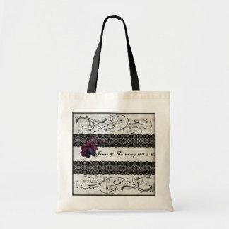 Black Lace Wedding Suite Tote Bag