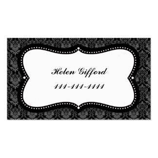 Black Lace With Frame COntact Card Business Card