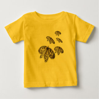 Black Laced Butterflies Baby T-Shirt