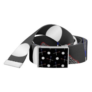 Black lacrosse pattern belt