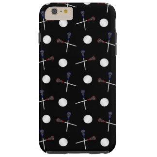 Black lacrosse pattern tough iPhone 6 plus case