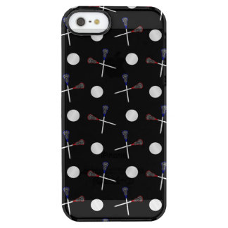 Black lacrosse pattern uncommon clearly™ deflector iPhone 5 case