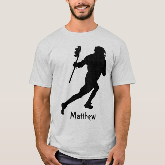 Black Lacrosse Sports Abstract T-Shirt