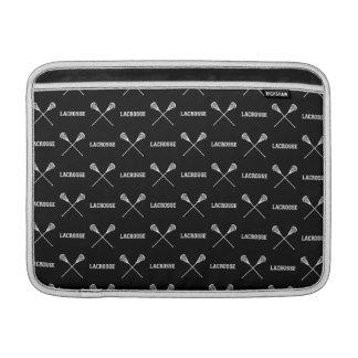 Black Lacrosse Sticks MacBook Air Sleeve