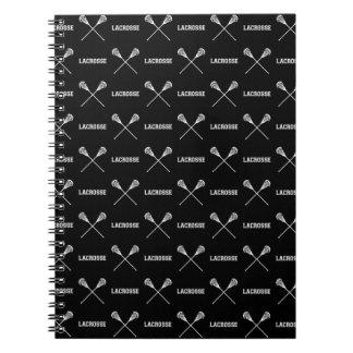 Black Lacrosse Sticks Notebook