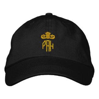 Black Ladies Cap with Monogram Embroidered Baseball Caps