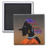 Black Lady Fridge Magnet