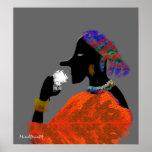 Black Lady Poster